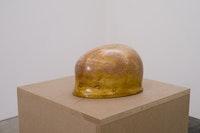 "Robin Peck, ""Sculpture (Crania) 2,"" (2013). Brass, steel, iron, aluminum, plaster, hydrocal, shellac, wax, 6.8 × 9.8 × 6 ̋. Courtesy of CANADA."