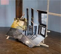 "Isidro Blasco, ""Stairs,"" (2012). C-print, wood, museum board, 84×70×36 ̋."