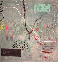 "Heidi Howard, ""Liz Phillips"" (2014). Oil on canvas, 68 × 72 ̋. Courtesy of Nancy Margolis."