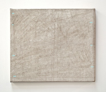 "John Zurier, ""At Havalsnes"" (2014). Distemper on linen, 24 × 28 ̋. Courtesy the artist and Peter Blum Gallery, New York."