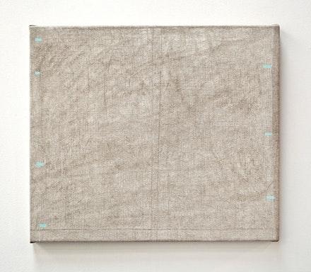 "John Zurier, ""At Havalsnes"" (2014). Distemper on linen, 24 × 28 ̋. Courtesy the artist and Peter Blum Gallery, New York."