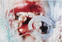 "Marilyn Minter, ""Master Blaster"" (2013). Enamel on metal, 96 × 144 ̋. Courtesy of Salon 94, New York."