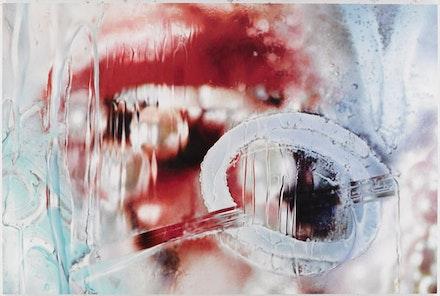 "Marilyn Minter, ""Master Blaster"" (2013). Enamel on metal, 96 × 144 ̋. Courtesy of Salon 94, New York."
