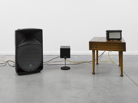 "Haroon Mirza, ""Falling Rave"" (2014). Courtesy the artist and Lisson Gallery."