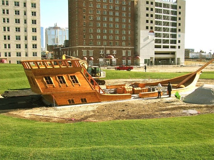 "Ilya & Emilia Kabakov, ""The Pirates Ship/""The Devil's Rage"" (2012). Installation. Photo: Emilia Kabakov."