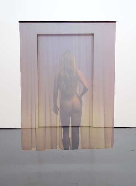 "Michael Snow, ""VUEƎUV"" (1998). Color photo on cloth on plastic tube, 68 × 51"