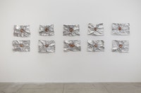 "Giuseppe Penone, ""Avvolgere la terra (To Enfold the Earth)"" (2014). Aluminium, terracotta. 17 11/16 × 23 5/8 × 4"