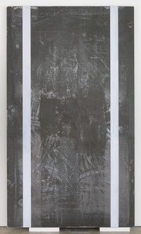 "Günter Förg, ""Untitled,"" 1990. Acrylic and lead on wood. (c) Estate of Günter Förg. Courtesy of Skarstedt, New York."