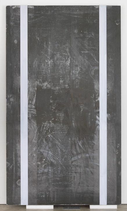 "Günter Förg, ""Untitled,"" 1990. Acrylic and lead on wood. (c) Estate of Günter Förg. Courtesy of Skarstedt, New York."