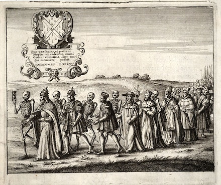 <em>Procession of the Dance of Death</em>, by Wenceslaus von Pracha c. 1650. Wikimedia Commons.