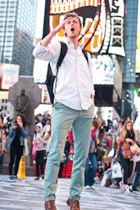 Adam Falkner - Times Square. Photo: Syreeta McFadden.