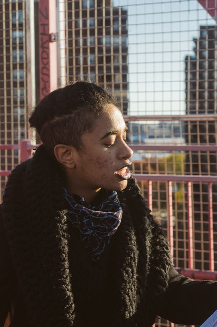 Aziza Barnes, Guest Curator - Williamsburg Bridge. Photo: Andreas Galvan.