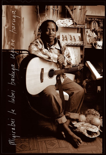 "James Lovell is a Garifuna musician and language activist. He works tirelessly to teach children Garifuna, an Arawak Indian language, through song and performance in Belize, New York, and St. Vincent. He has been working with the Endangered Language Alliance on Yugacure, a project to repatriate Garifuna to its origins in St. Vincent, under the direction of Trish St. Hill. A Garifuna word which translates to yucca, a staple Garifuna food source, yuga is also a Vincentian colloquialism meaning ""you got."""