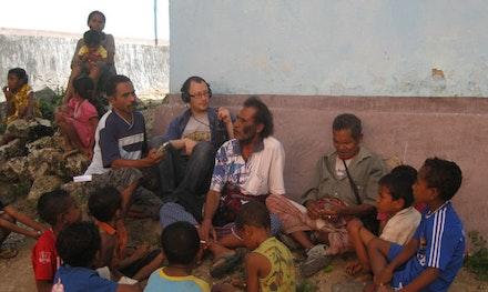 Daniel Kaufman doing fieldwork in West Timor, Indonesia.