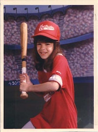 The author as a star pitcher, in the late '80s