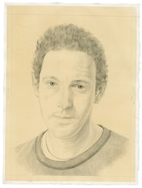 Portrait of the artist. Pencil on paper by Phong Bui. From a photograph by Taylor Dafoe.