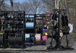 Tatiana Trouve, <i>Desire Lines</i> (2012). A project of the Public Art Fund. Metal, wood, ink, and rope, 137 13/16 x 299 3/16 x 374