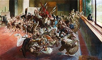 "Jacek Malczewski, ""Melancholia (Melancholy)"" (1890 – 94). Oil on canvas, 54 3/4 × 94 1/2"