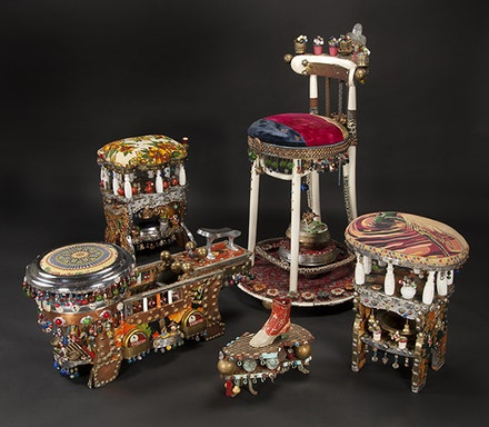 "Giovanni Indelicato, ""Shoe Shine Stand, ca. 1930s."" Mixed media. Fenimore Art Museum, Cooperstown, New York. Photograph: Richard Walker."