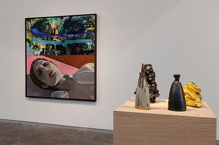 David Salle, <em>Debris</em> (2015). Installation view, Dallas Contemporary. Photography by Kevin Todora.