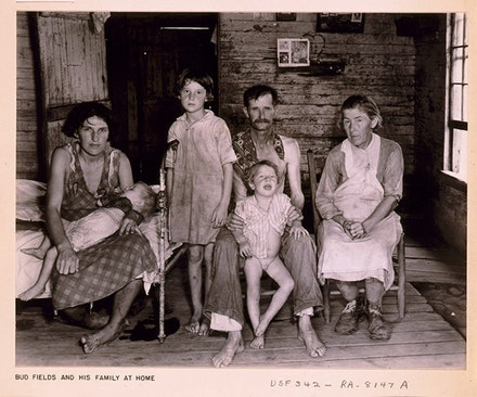 Bud Fields and his family, as portrayed by Evans in <em>Let Us Now Praise Famous Men</em>. Photo: Walker Evans, courtesy of the Library of Congress.