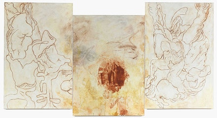 "Bill Jensen, ""TRANSGRESSIONS"" (2011 – 14). Triptych, oil on linen, 551/2 × 105˝. Courtesy of Cheim & Read."