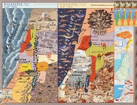 "Joyce Kozloff, ""Palestine"" (2013). Collage, digital archival inkjet print, 36 × 47˝. Courtesy of the artist."