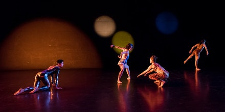 From left: Hiroki Ichinose, Cori Kresge, Melissa Toogood, Silas Riener. Photo by Ian Douglas.