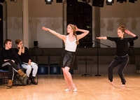 Sterling Hyltin and Jodi Melnick in <em>Starts and Fits, No Middles No Ends: Eight Unfinished Dances</em>. Photo by Ian Douglas.
