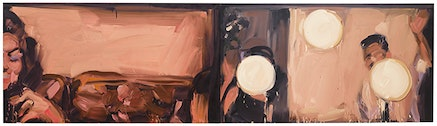 """Laura Lancaster, """"Untitled"""" (2015). Oil on canvas, 51 × 205 ̋. Courtesy of Sargent's Daughters."""