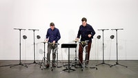 Meehan/Perkins Duo performing <em>Parallels</em>. Photo courtesy of Tristan Perich.