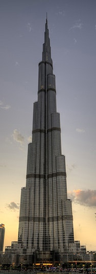 """Burj Khalifa"" by Walid Mahfoudh (flic.kr/p/e3tPvN), used under (CC BY-NC 2.0)."