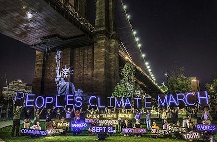 NYC Light Brigade work led by Athena Soules. Photo: Erik McGregor.
