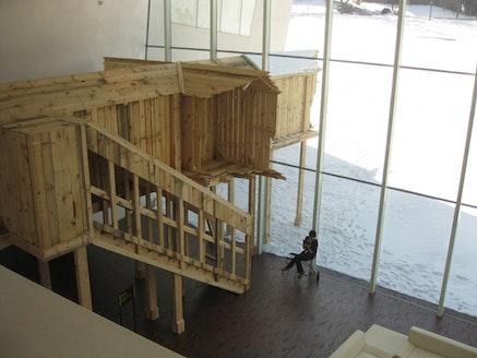 """Unnamed Structure"" (2011). Walker Art Center. Wood, 50 × 18 × 16 ́. Photo: Juana Berrio."