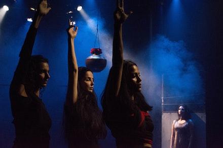 Poorna Jagannathan, Rukhsar Kabir, Priyanka, Bose, Japjit Kaur in a scene from Nirbhaya. Photo: Timmy Blupe.