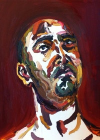 "Myuran Sukumaran, ""Self Portrait"" (2015). Courtesy of the Ben Quilty Studio."
