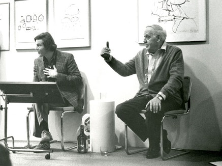 Bill Berkson and Philip Guston at Gallery Paule Anglim, San Francisco, January 1979. Courtesy of Bill Berkson.