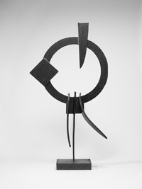David Smith, Voltri XII, 1962, Steel, 86 3/4 x 49 3/4 x 13 1/2 inches (220 x 126 x 34 cm). Private collection, Atherton, California, Photo: David Heald, © The Estate of David Smith, Licensed by VAGA, New York.