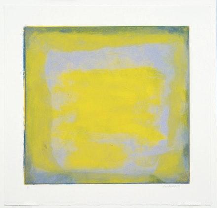 "Emily Mason, ""Untitled"" (2001). Carborundum monoprint on paper, 18 × 19˝. Courtesy of Russell Janis."