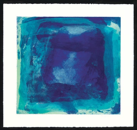"Emily Mason, ""Untitled"" (1998). Carborundum monoprint on paper, 18 × 19˝. Courtesy of Russell Janis."