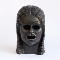 "Sarah Peters, ""Portrait with Open Mouth"" (2014). Bronze, 12 1/2 × 7 × 8˝. Courtesy of Eleven Rivington."