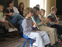 Recorder Class at the Brooklyn Conservatory of Music. 