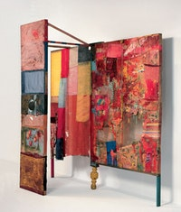 "Robert Rauschenberg, ""Satellite,"" 1955. (right) Courtesy of the MetropolitanMuseum of Art."
