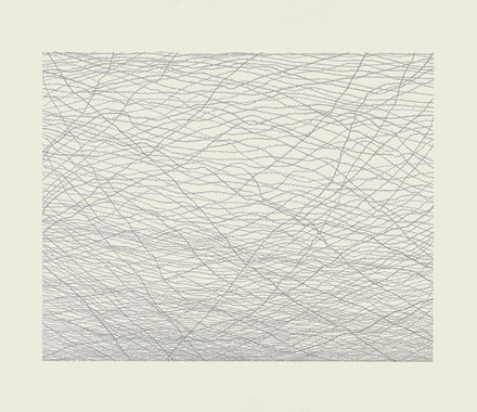 Jacob El Hanani, <em>The Hebrew Barbed Wire</em>, 2013. Ink on paper, 30 × 36 in.