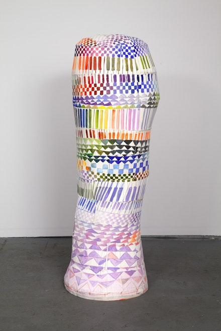 Tamara Zahaykevich, <em>Cultural Body</em> (2014). Foam board and acrylic paint. Courtesy the artist and Kansas Gallery, New York.