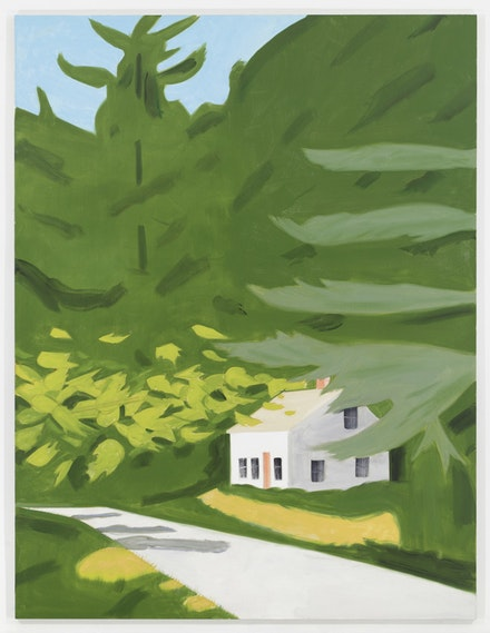Alex Katz, Black Brook 18, 2014. Oil on linen, 96 x 120 in. Courtesy the artist and Gavin Brown's Enterprise. Photo: Thomas Müller.