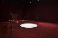 "Installation view: Anicka Yi, ""6,070,430K of Digital Spit,"" MIT List Visual Arts Center, Cambridge, MA. Photo: Peter Harris Studio."