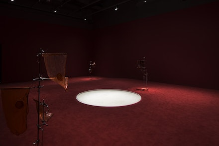 "Installation view: Anicka Yi, ""6,070,430K of Digital Spit,"" MIT List Visual Arts Center, Cambridge, MA. Photo: Peter Harris Studio."