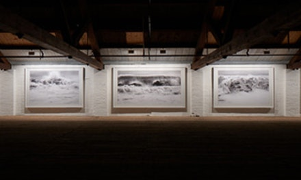 Installation view: Clifford Ross, Hurricanes, MASS MoCA, March 23 – March 30, 2016. Courtesy the artist. © Clifford Ross Studio. Photo: Tom Powell.