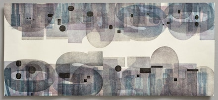 Lynne Avadenka, <em>Occom's Alphabet Black</em>, 2009. Relief print from wood type. 12 × 28 in. Courtesy the artist and Art Mora Gallery.